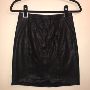 Minkpink black leather skirt